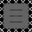 List Menu Interface Icon
