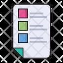 List File Document Icon