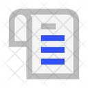 File List Schedule Icon