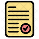 List Certificate Document Icon