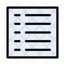List View Layout Icon