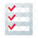 List Check Grocery Icon