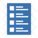 List Sheet File Icon