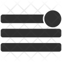 Notification Lines List Icon