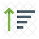 Ascending Order List Sort Icon