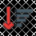 Descending Order List Sort Icon