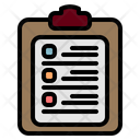 List Tasks Clipboard Icon
