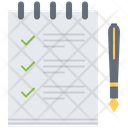 List Check Notebook Icon