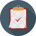 List Checked Clipboard Icon