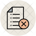 List Canceled Delete Icon