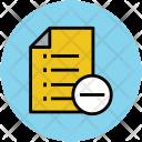 List Remove Minus Icon