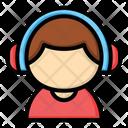 Listening Headset Headphone Icon