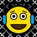 Listening Face Headphones Icon