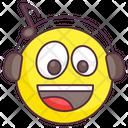 Listening Emoji Icon