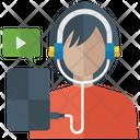 Listening Music Video Clip Social Listening Icon