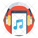 Listening Music Online Music Mobile Music Icon