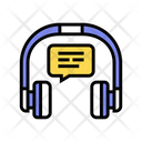 Listening Music Earphones Icon