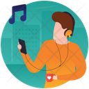 Listening Music Party Musician Christmas Party Icon