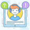 Audio Course Ebook Online Education Icon