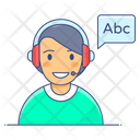 Listening Test Oral Test Audio Learning Icon