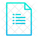 List Page List Document Icon