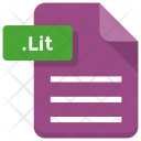 Lit File Document Icon