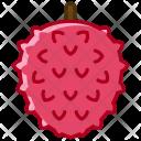 Litchi Fruit Fit Icon