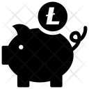 Litecoin Bank Account Icon