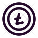 Litecoin Coin Cryptocurrency Icon