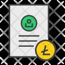 Litecoin Shopping Document Icon