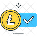Litecoin Accepted Altcoin Checkmark Icon