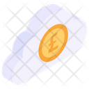 Litecoin Cloud Cloud Cryptocurrency Virtual Currency Icon