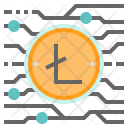 Litecoin Cryptocurrency Digital Icon