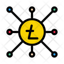 Litecoin Network Connection Icon
