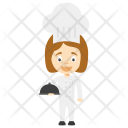 Chef Girl Cooking Icon
