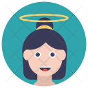 Girl Child Angel Icon