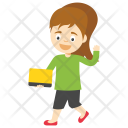 Little Student Cartoon Icon