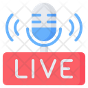 Live Podcast Radio Icon