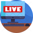 News Broadcasting Live Online Icon