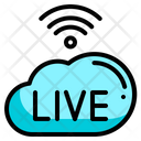 Cloud Music And Multimedia Live Icon
