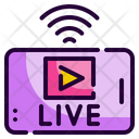 Live Streaming News Streaming Icon