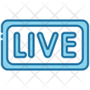 Live Streaming Broadcasting Icon