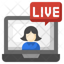 Live Laptop Live Streaming Icon