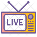 Television Live Broadcast Live Icon