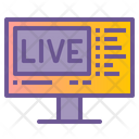 Live Chat Live Broadcast Icon