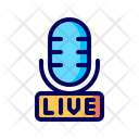 Live Broadcast Streaming Icon