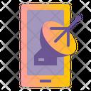 Broadcast Phone Live Icon