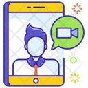 Live Call Mobile Chat Video Chat Icon
