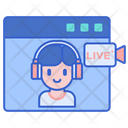 Live Chat Video Chat Video Conference Icon