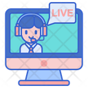 Live Chat Live Support Live Service Icon